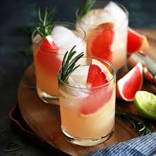 Pink drink with grapefruit